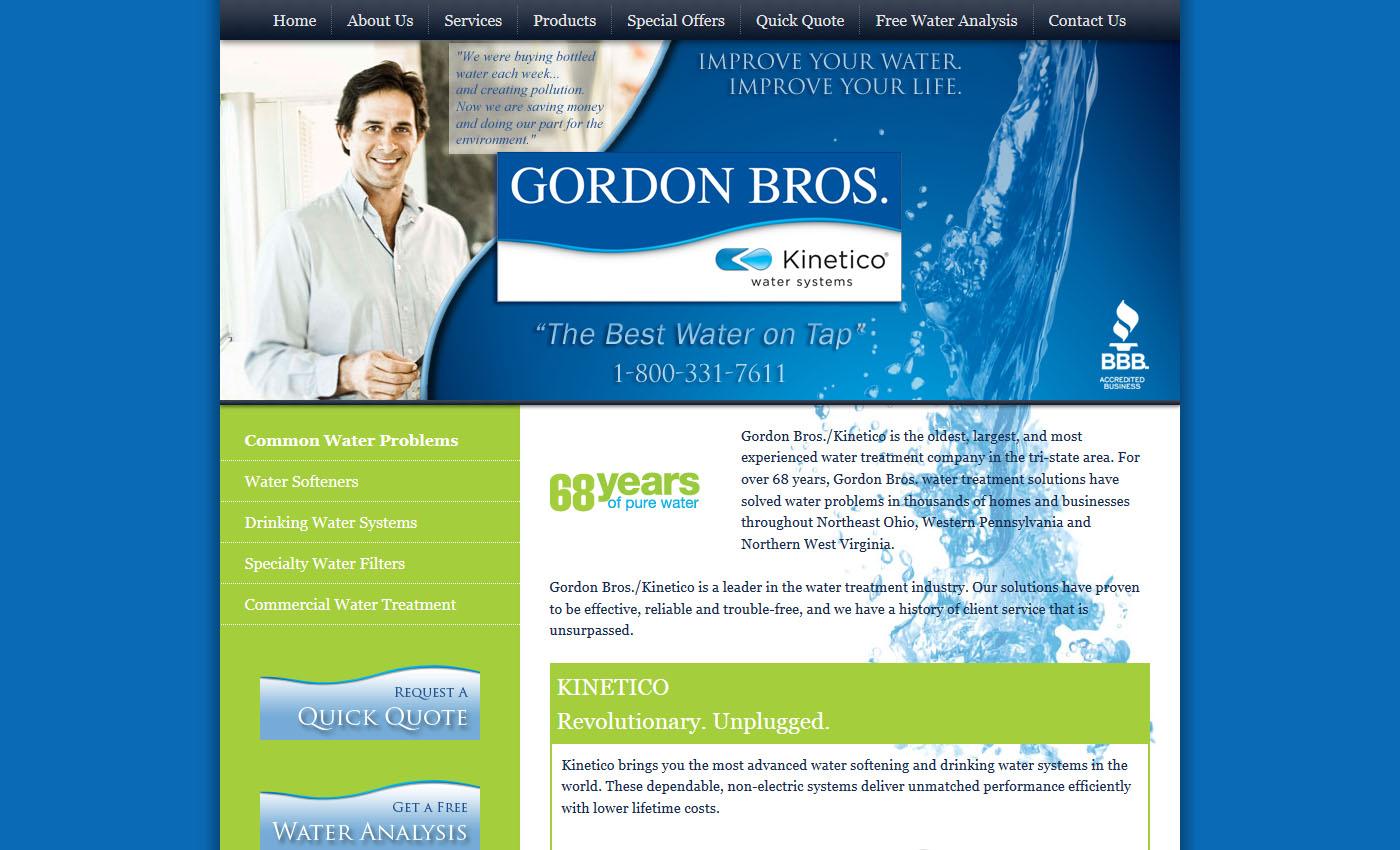 gordon bros water website farris marketing. Black Bedroom Furniture Sets. Home Design Ideas