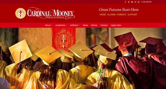Cardinal Mooney high school website