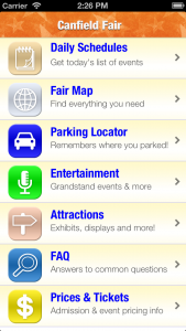 Canfield Fair iPhone/Android app