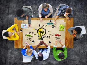 Multiethnic Group of People Planning Ideas