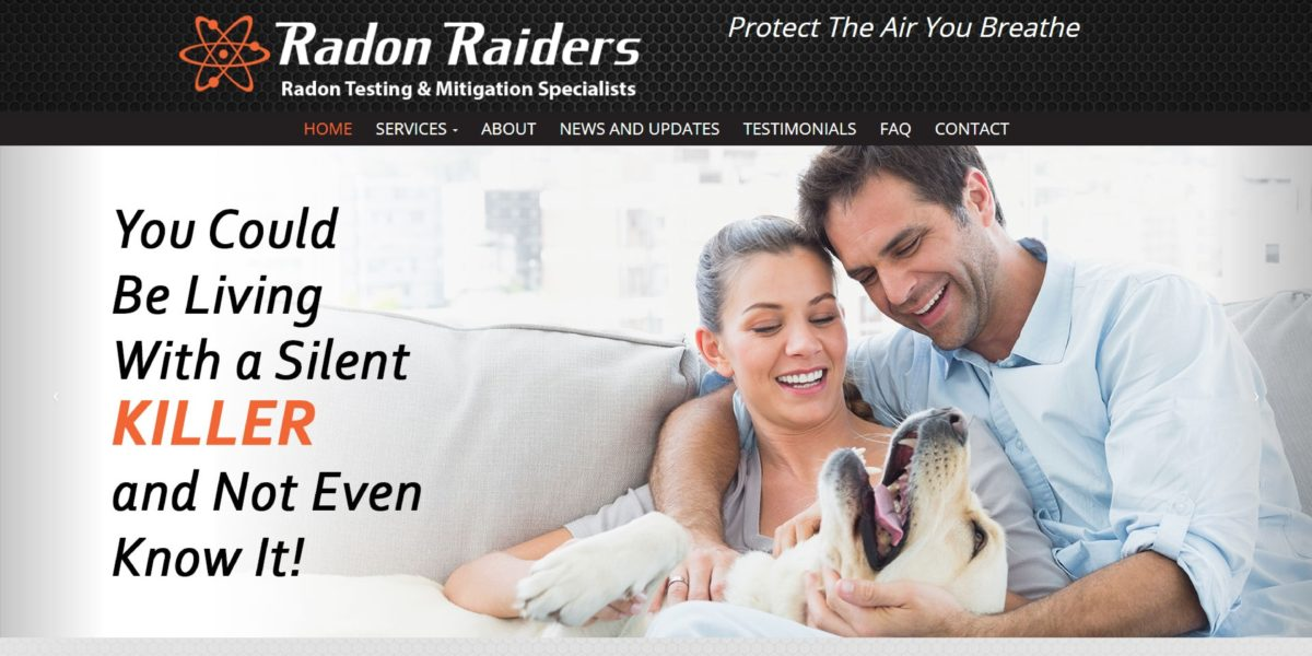 Radon Raiders Website